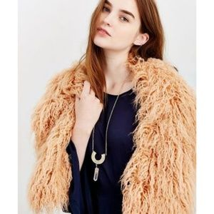 Urban Outfitters Accessories - Urban Outfitters Ecote Mongolian Faux Fur Wrap NWT